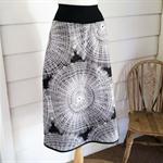 Black and White Aline Skirt Long Skirt Pocket Skirt Cotton Skirt Sizes Available